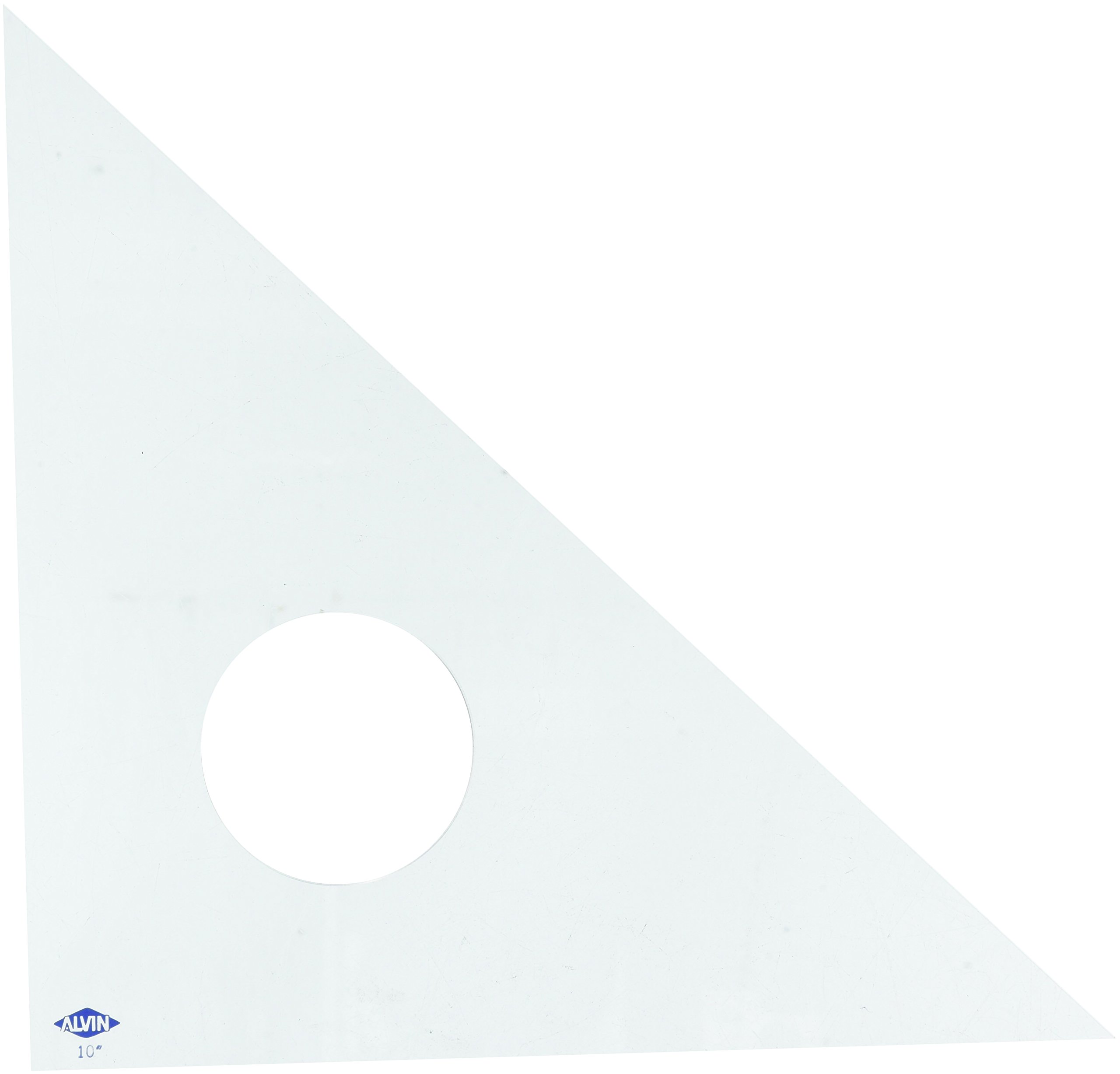 Alvin 131C-10 45-Degree/90-Degree 10'' Clear Professional Acrylic Triangle by Alvin