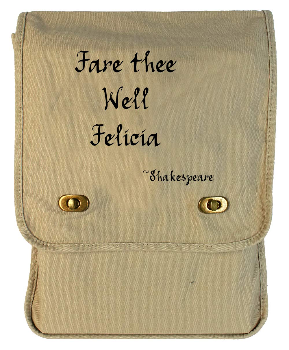 Tenacitee Fare Thee Well Felicia Maroon Brushed Canvas Messenger Bag