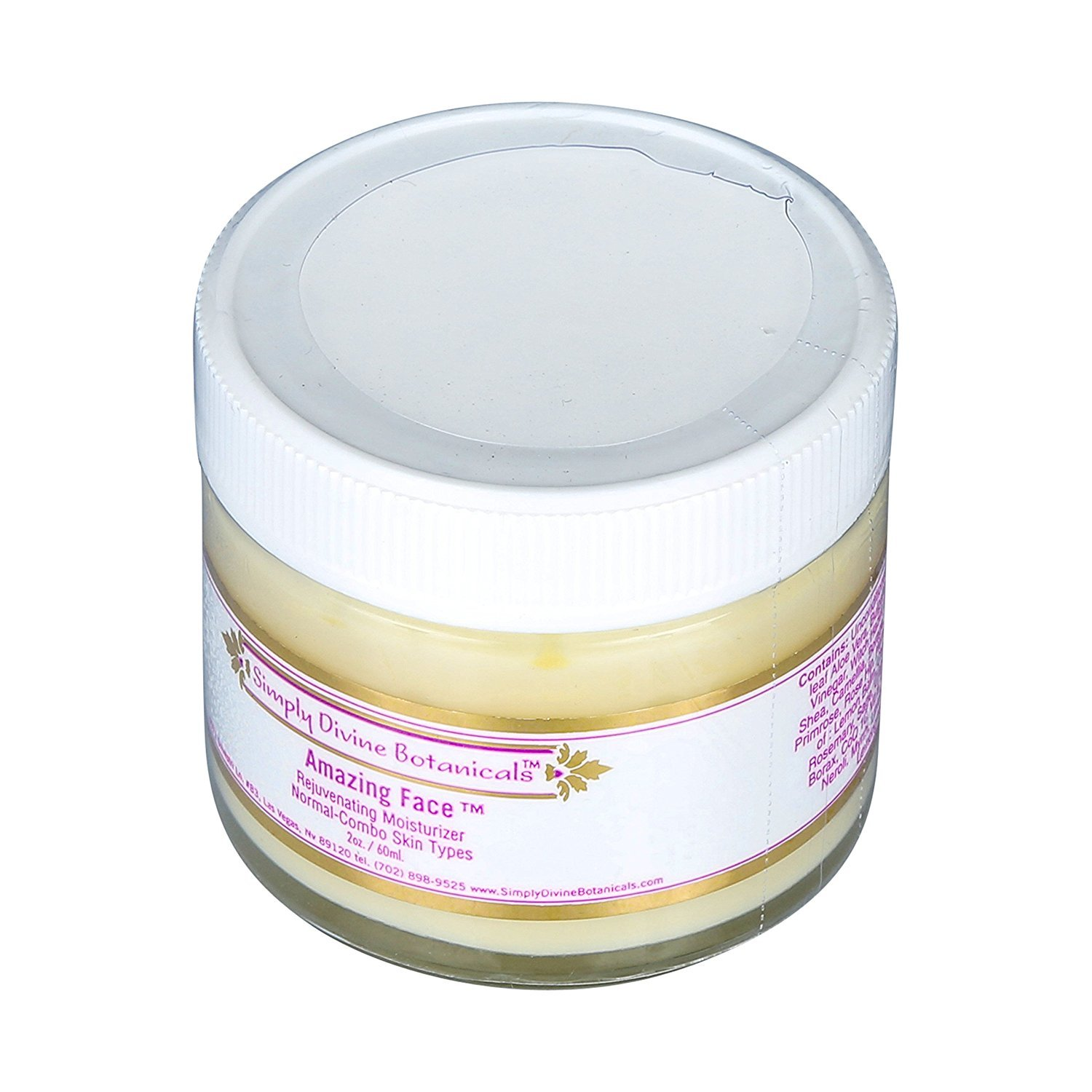 Simply Divine Botanicals Amazing Face Rejuvenating Moisturizer 2 oz.
