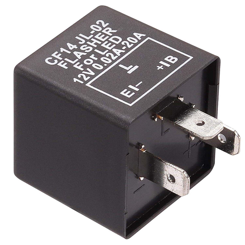 Kinstecks 2Pin Rel/è Lampeggiante 12V Indicatori di direzione a LED Lampeggiatore a LED per indicatori di direzione a LED Indicatore di direzione