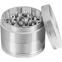 Grinder Moledor de Especias Metálico-CoWalkers Herb Spice Grinder con Pollen Catcher -40 mm de Diametro- dientes en forma de diamante