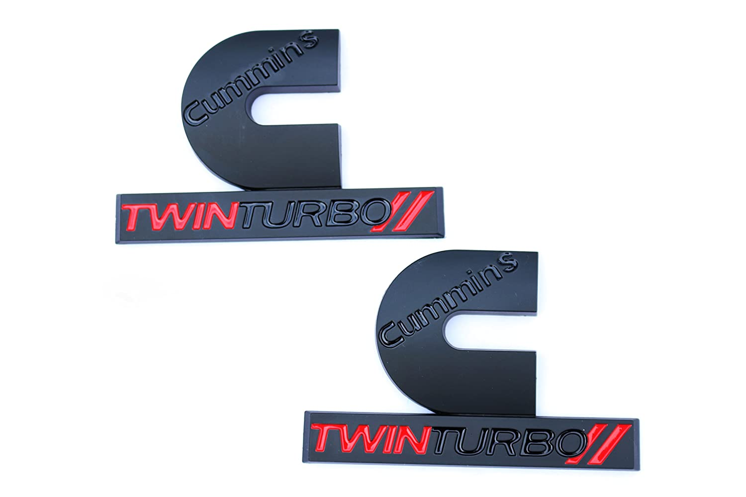 Amazon 2 pair new 2006 2012 matte black and red dodge ram amazon 2 pair new 2006 2012 matte black and red dodge ram cummins twin turbo diesel emblems badges set 2500 3500 4500 decal automotive biocorpaavc Images