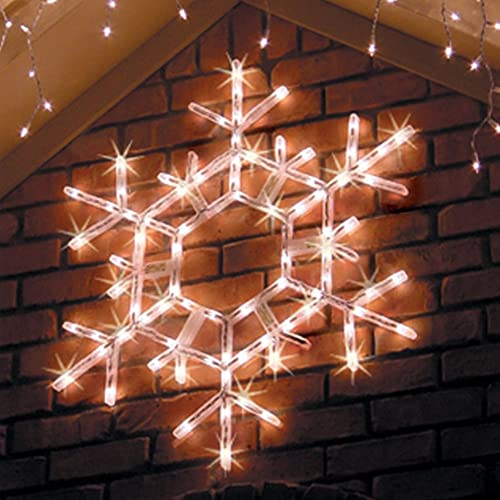 kringle traditions 36 led folding twinkle snowflake christmas decoration cool white lights outdoor