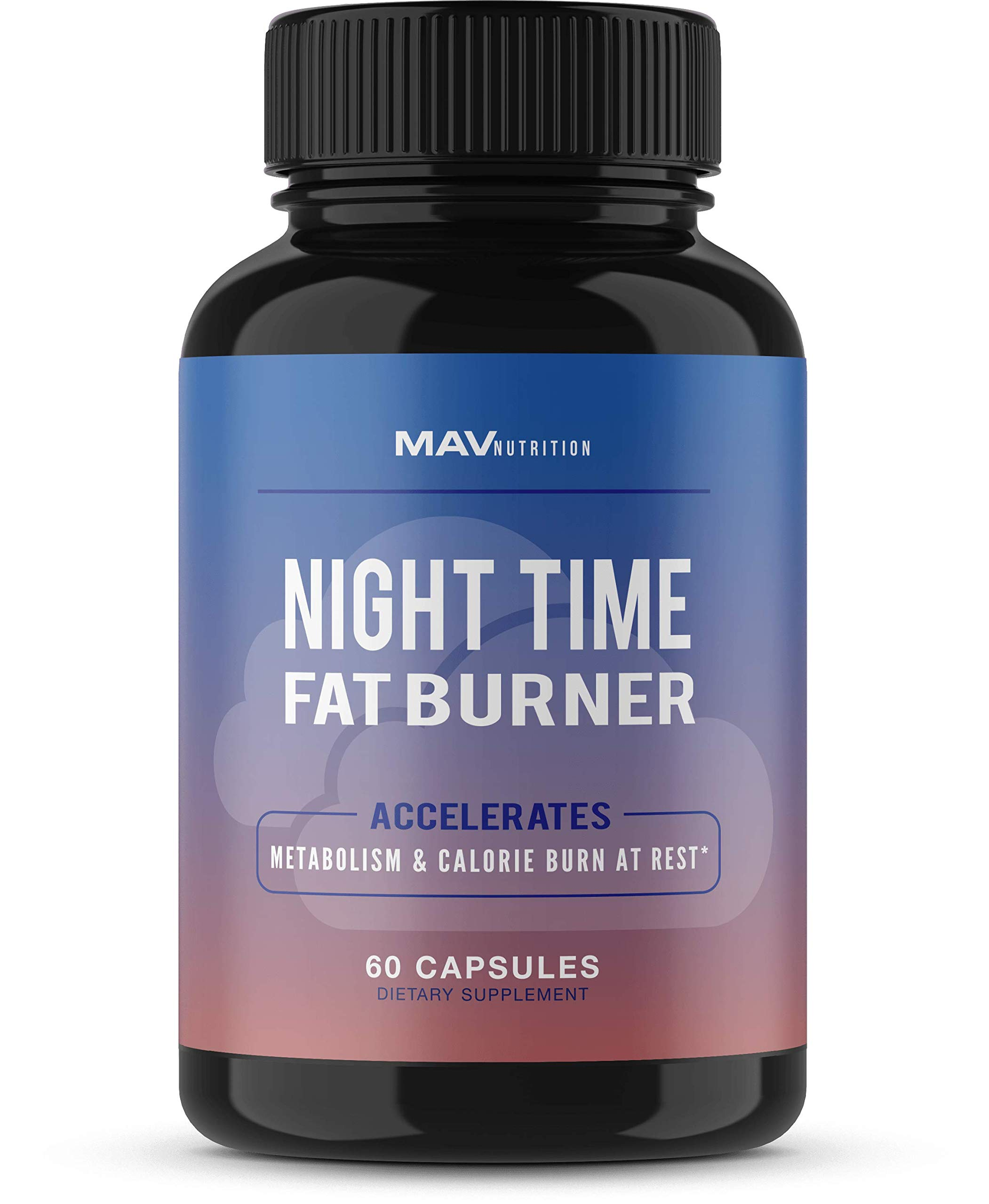 MAV Nutrition Weight Loss Pills Fat Burner for Night Time as Appetite Suppressant and Metabolism Boost, Non-GMO, 60 Count by MAV NUTRITION