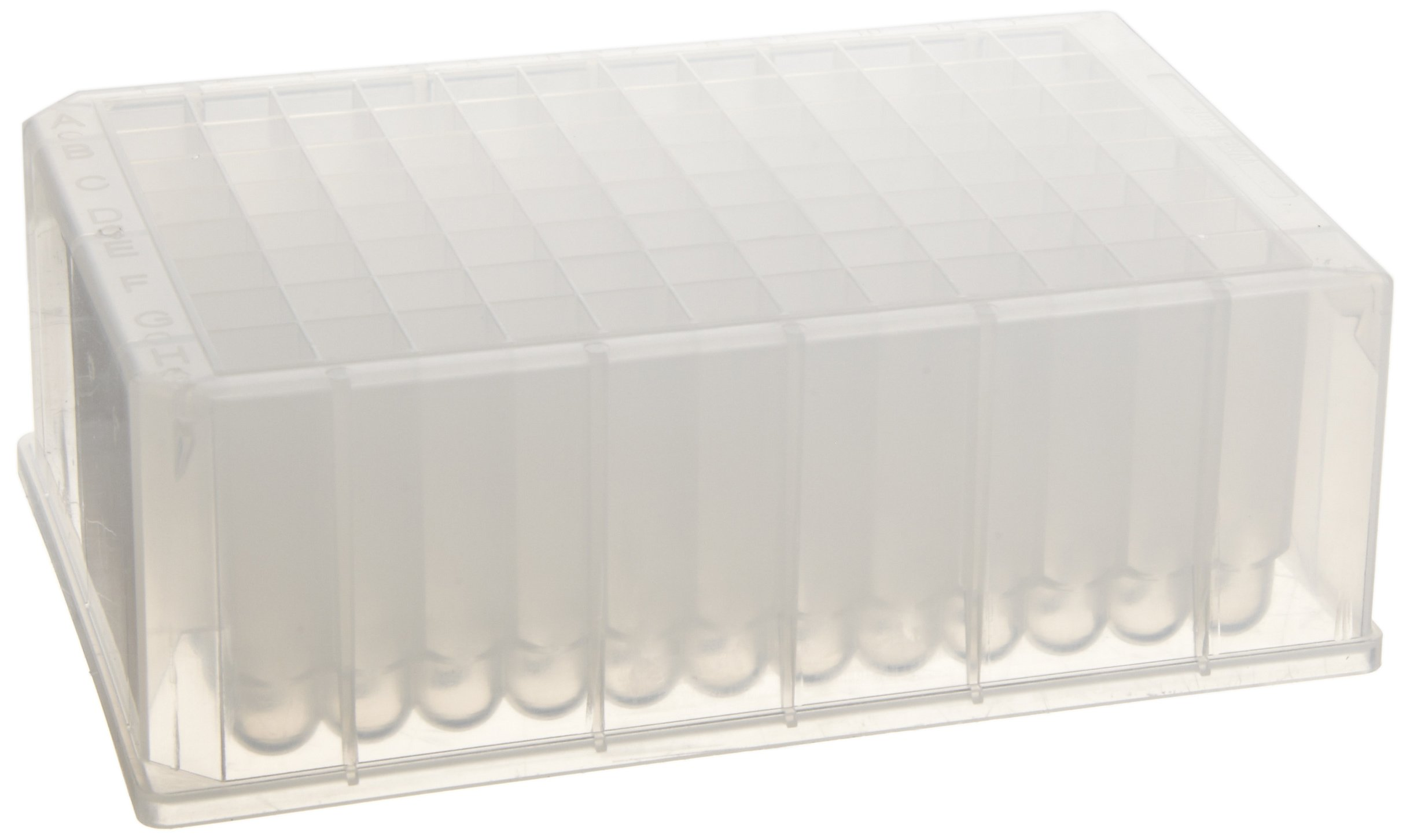 Whatman 7701-5200 Natural Polypropylene 96 Wells Uniplate Collection and Analysis Microplate with Round Well Bottom, 2mL Volume (Pack of 25) by Whatman