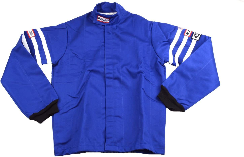 Racerdirect RJS Racing SFI 3.2A//1 Classic FIRE Suit Race Jacket /& Pants Blue Size Adult Medium
