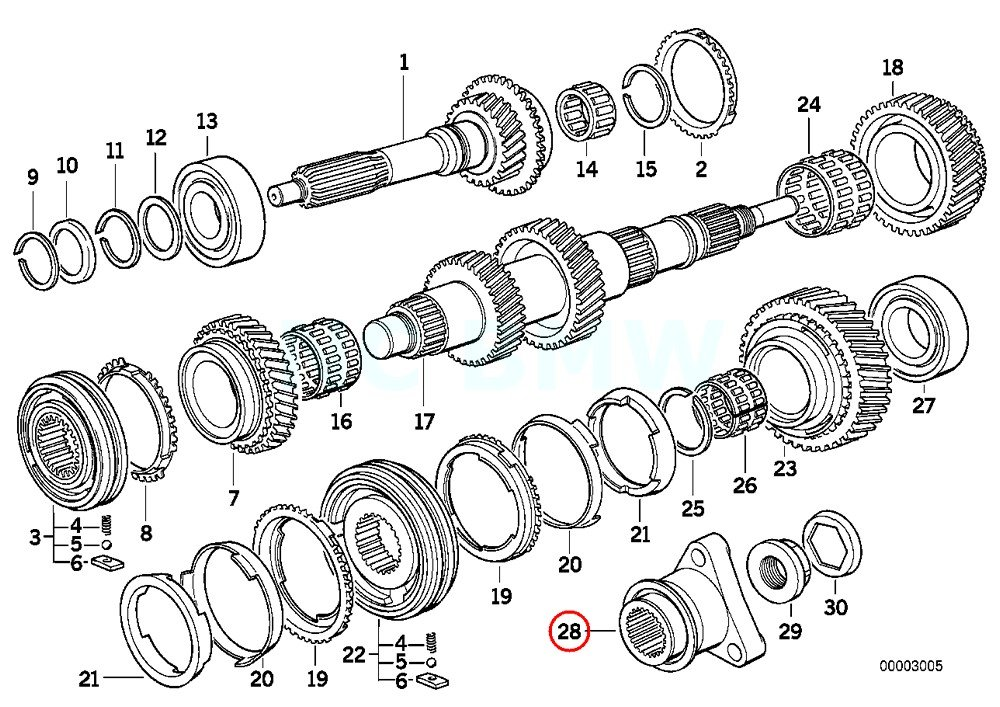 BMW Genuine Output Flange