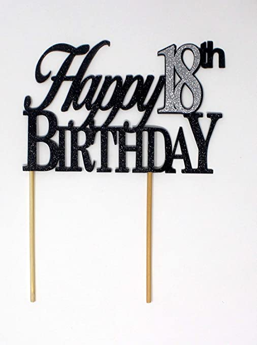 Awe Inspiring Amazon Com All About Details Happy 18Th Birthday Cake Topper 1Pc Personalised Birthday Cards Xaembasilily Jamesorg