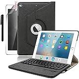iPad Pro 12.9(2015) Keyboard Case, Boriyuan 360 Degree Rotating Smart Cover Wireless Bluetooth Keyboard Case Cover for Apple iPad Pro 12.9 inch, Black