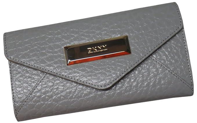 925faca4f4a DKNY Women s Beekman French Grain Leather Wallet Light Grey  Amazon ...