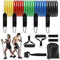 Set Weerstandsbanden, Trainingsbanden voor Mannen en Vrouwen, Trainingsapparatuur voor Thuis, Zware Fitnessbuizen met 5…