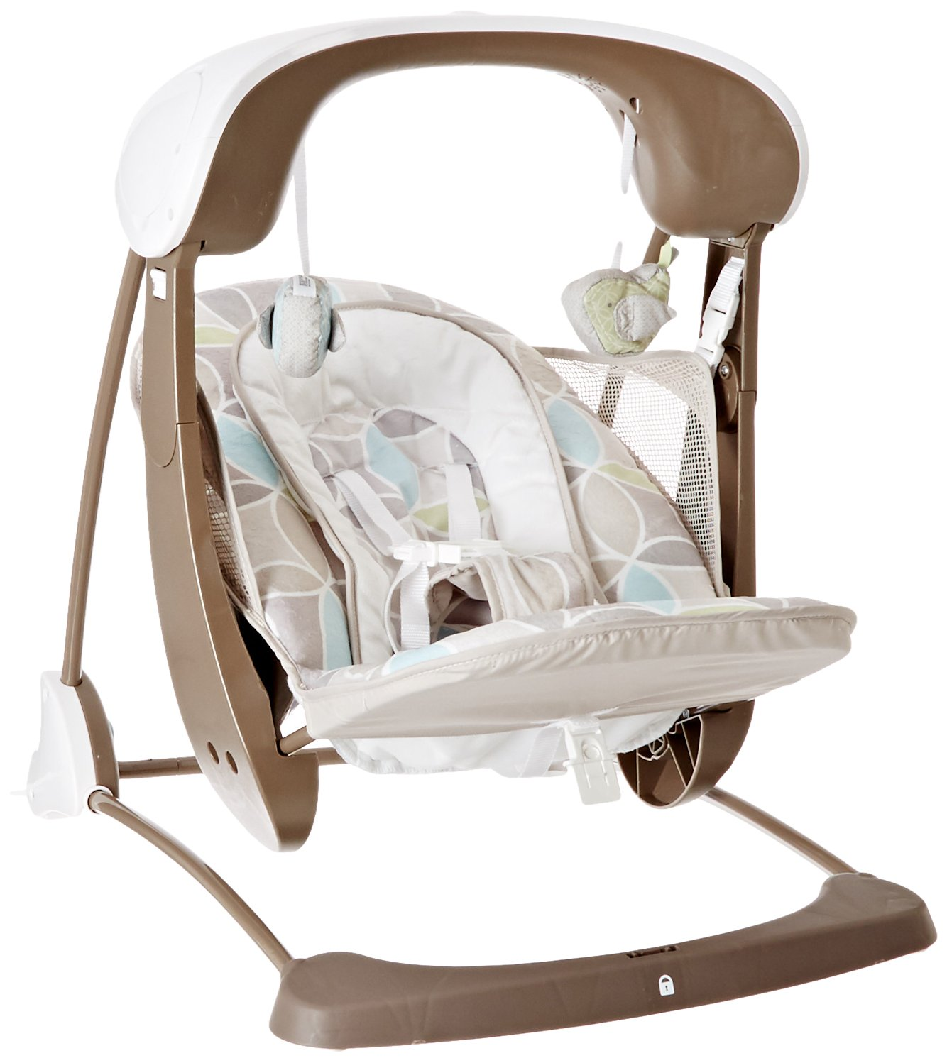 on tiny to sheepskin him baby sister photo his toddler newborn with a swing stock in sleeping standing next