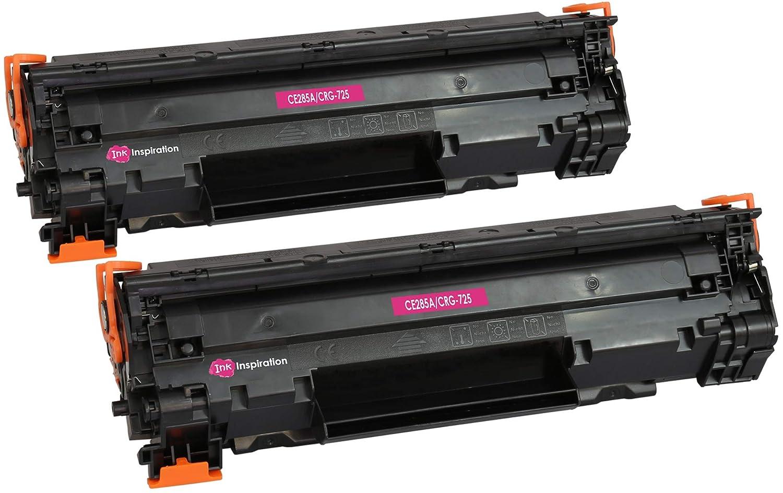 2 INK INSPIRATION® Tóners compatibles para HP Laserjet Pro P1102 P1102W M1212NF M1213NF M1217NFW MFP CE285A Canon I-Sensys LBP-6000 LBP-6018 LBP-6020 ...