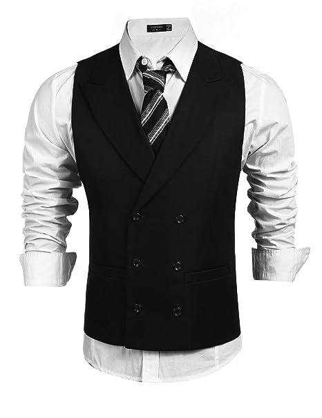 Amazon.com: Editado para hombre Casual traje chaleco sólido ...