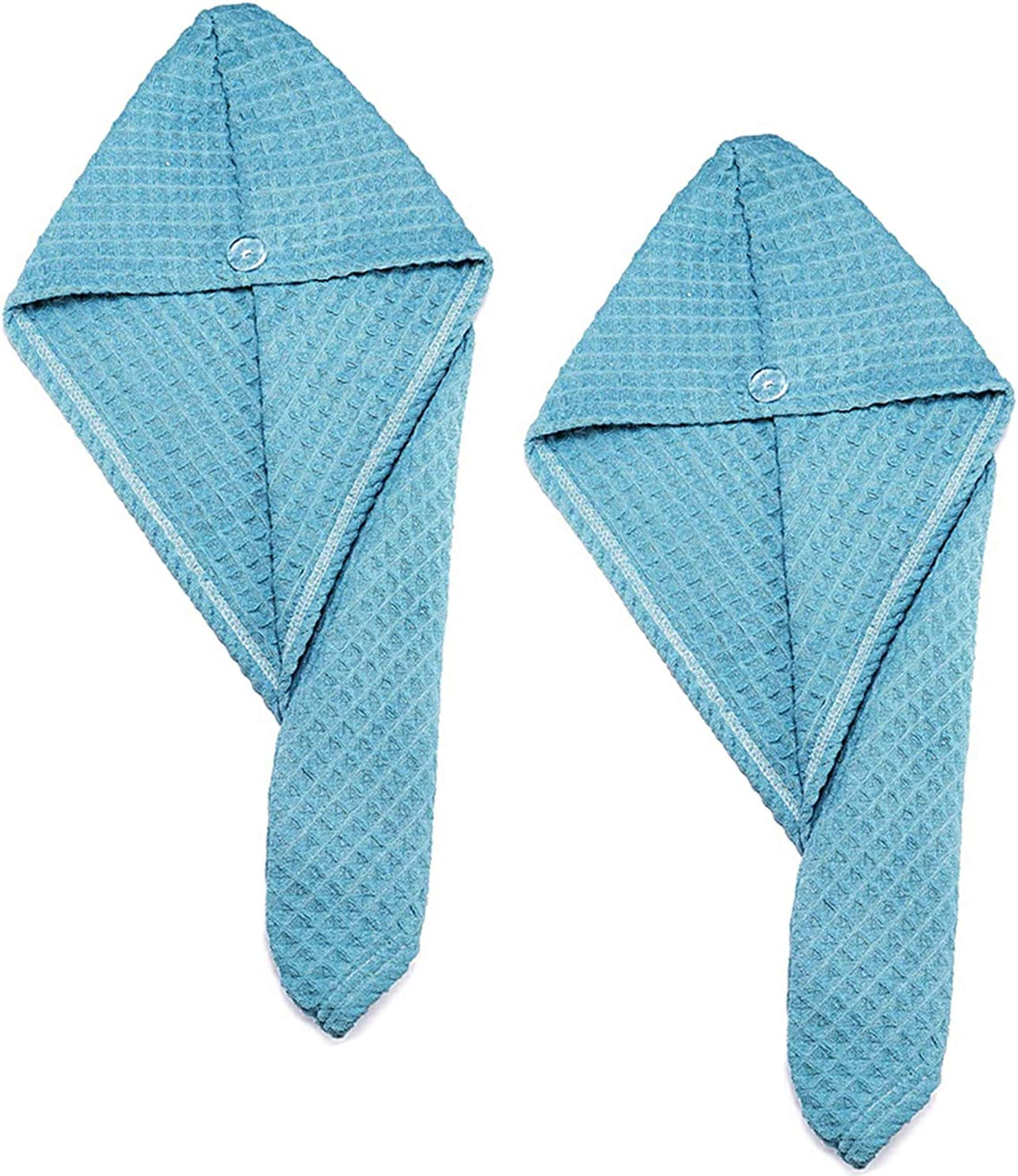 Toallas de Ba/ño Turbante del Abrigo de Pelo Secado R/ápido de Microfibra Suave Absorbentes de Agua Pelo Ouinne 2 Piezas Gorro De Ducha