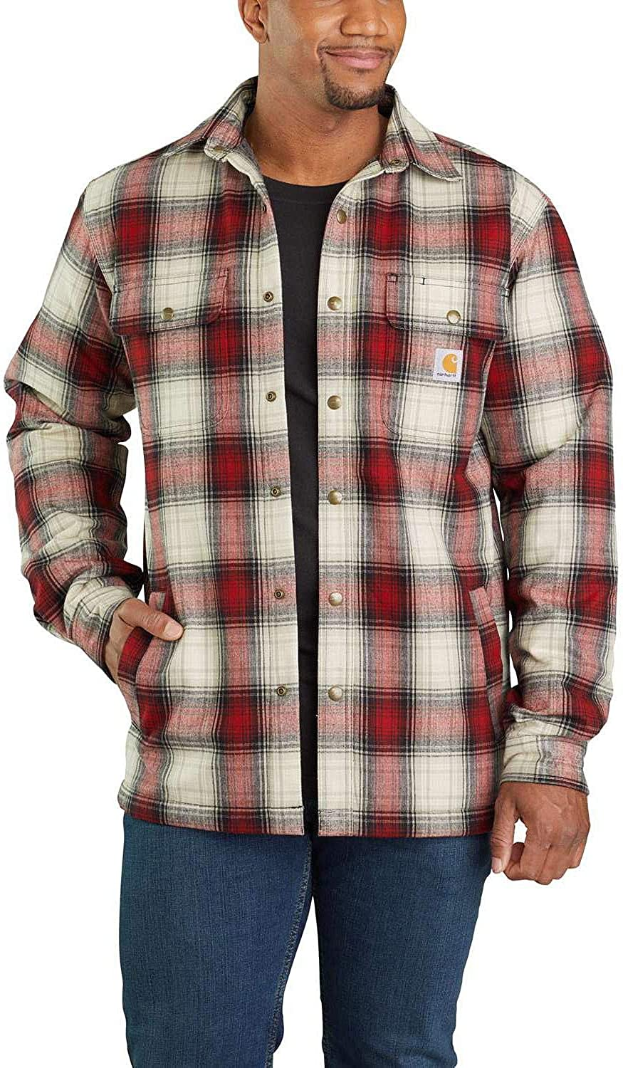 Carhartt Men Long-Sleeve Shirt Hubbard Sherpa Lined