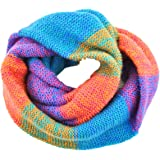 Tuopuda Women Colorful Neck Scarf Winter Knitted Loop Infinity Scarf Warm Wrap Cowl