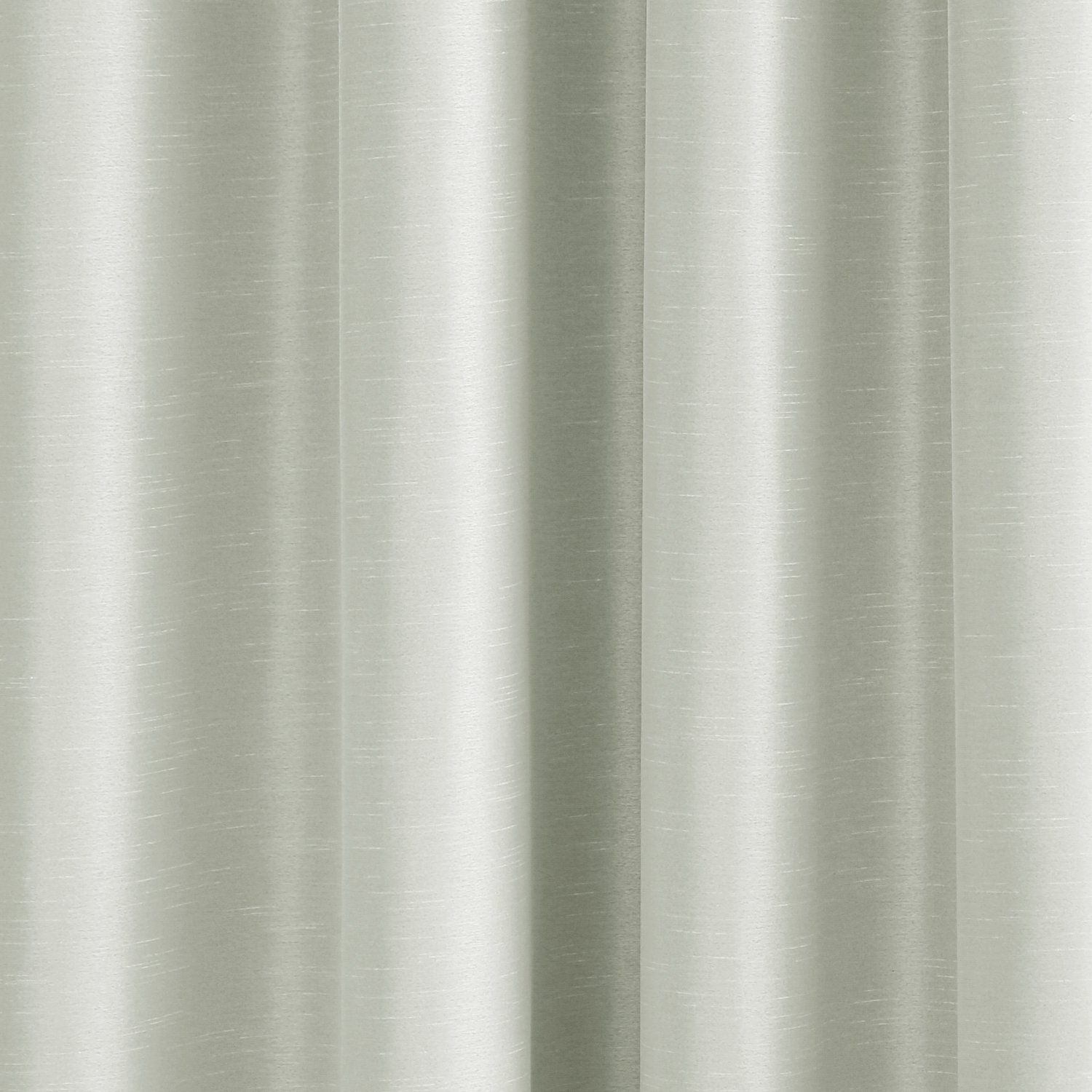 Deconovo Double Layers Faux Dupioni Silk Blackout Curtains Thermal Insulated Grommet Blackout Lining Panels for Living Room 52W x 95L Inch Cream 2 Panels