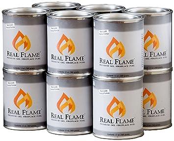 Amazon.com: Real Flame Gel Fuel, 12-Pack: Patio, Lawn & Garden
