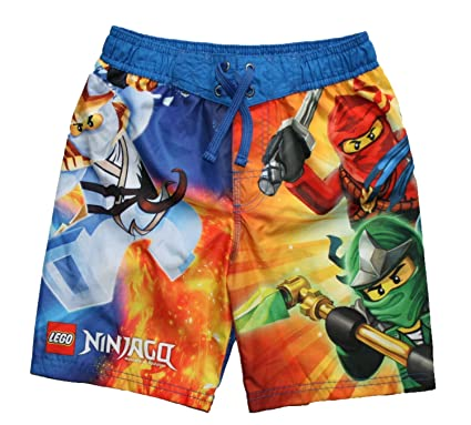 056f4c47fa Amazon.com: Lego Ninjago 5 Ninja Boys Swim Trunks (4/5): Fashion ...