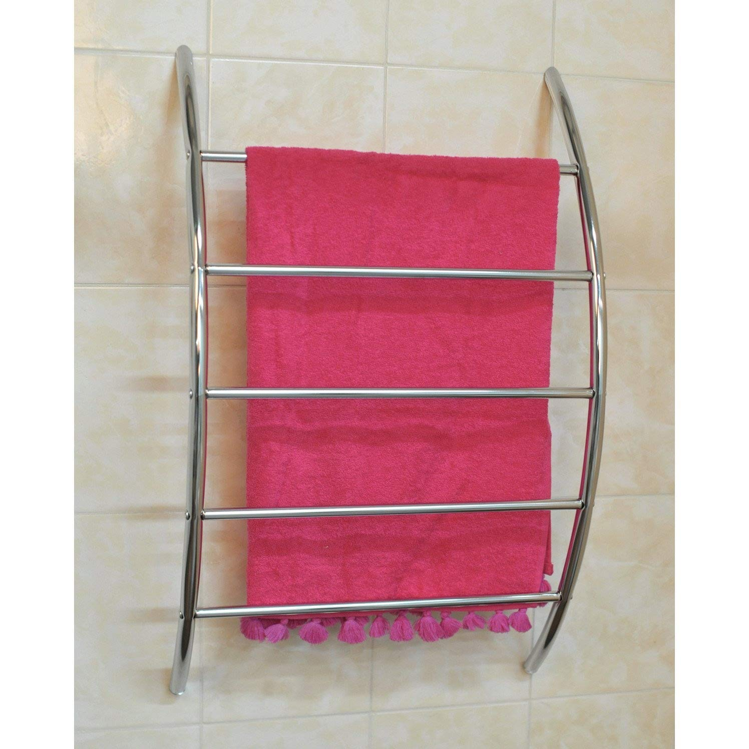 Contemporary Metal Wall Mounted Towel Rack