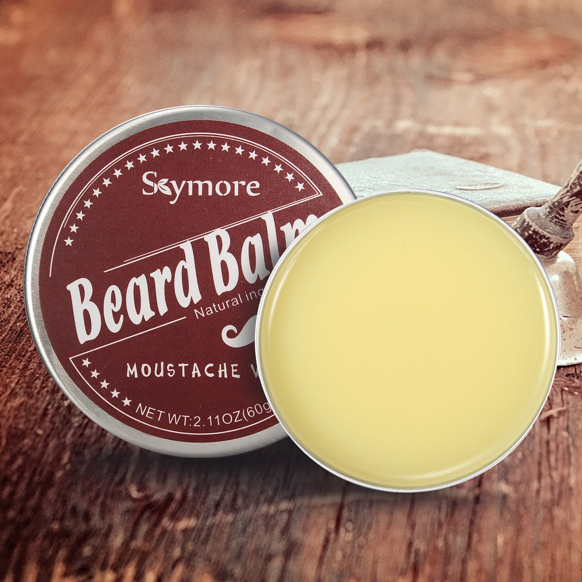 Skymore Beard Balm-Leave in Beard Conditioner-100% Natual Ingredients-Easy to Use For Father's Day Chenmmaniang