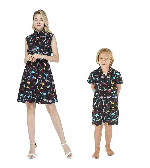 Amazon.com: Camisa a juego para mujer, vestido de chico ...