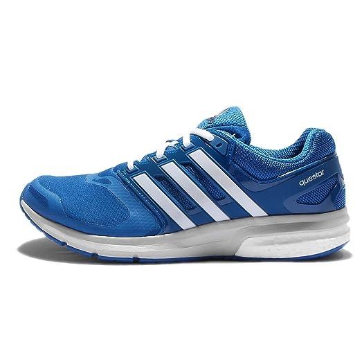 adidas uomini questar tf m, blu / grigio / bianco a correre