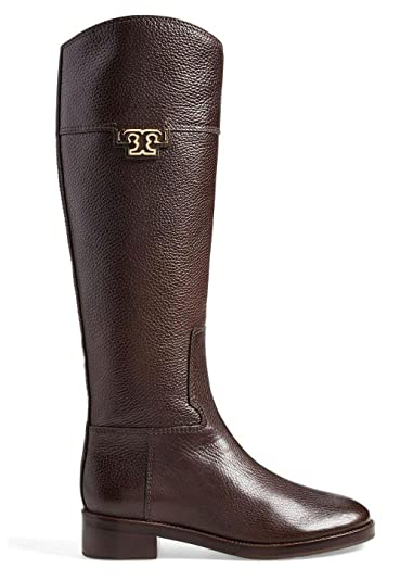 Amazon.com | Tory Burch Joanna Leather Riding Boots | Knee-High