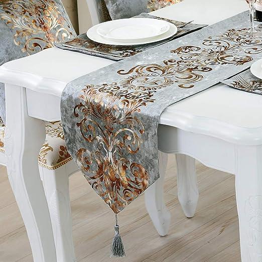 Camino de mesa de tela estilo europeo clásico moderno bandera ...