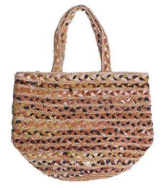 57fad50f9ab6 Amazon.com  Magid Women s Large Basket Weave Tote Bag Natural One ...