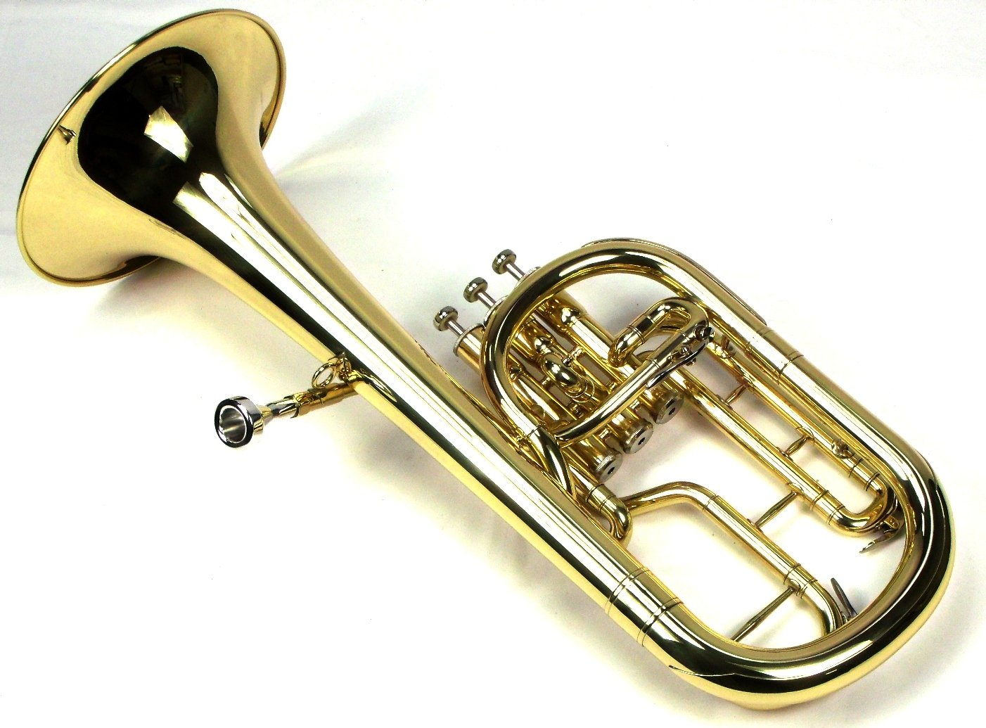 Intermediate Monel Pistons Alto Horn w/Case & Mouthpiece-Gold Lacquer Finish by Moz (Image #6)