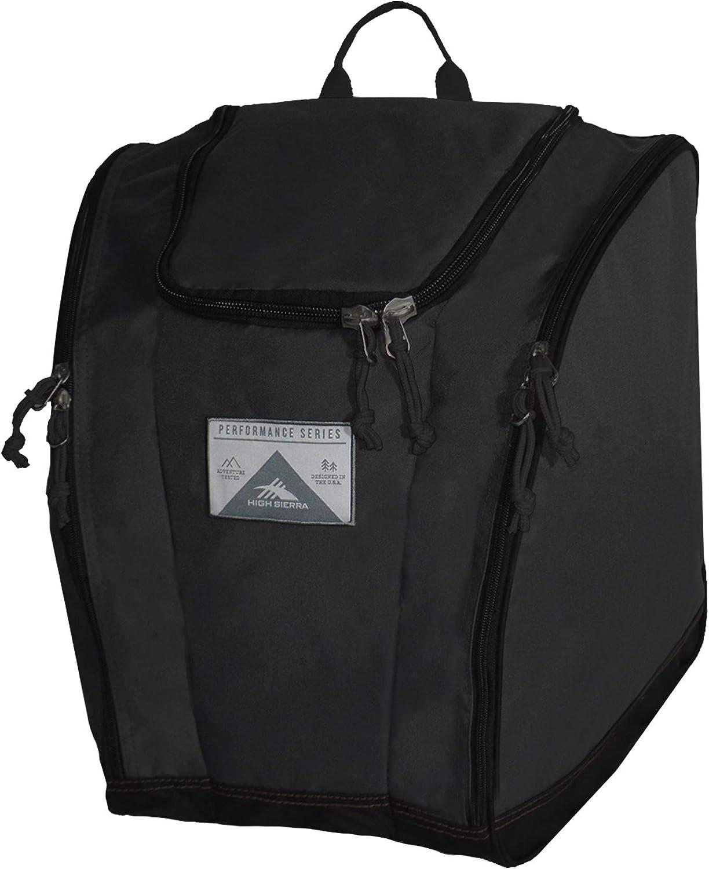 High Sierra Ski/Snowboard Boot Bag Backpack, One Size, Black