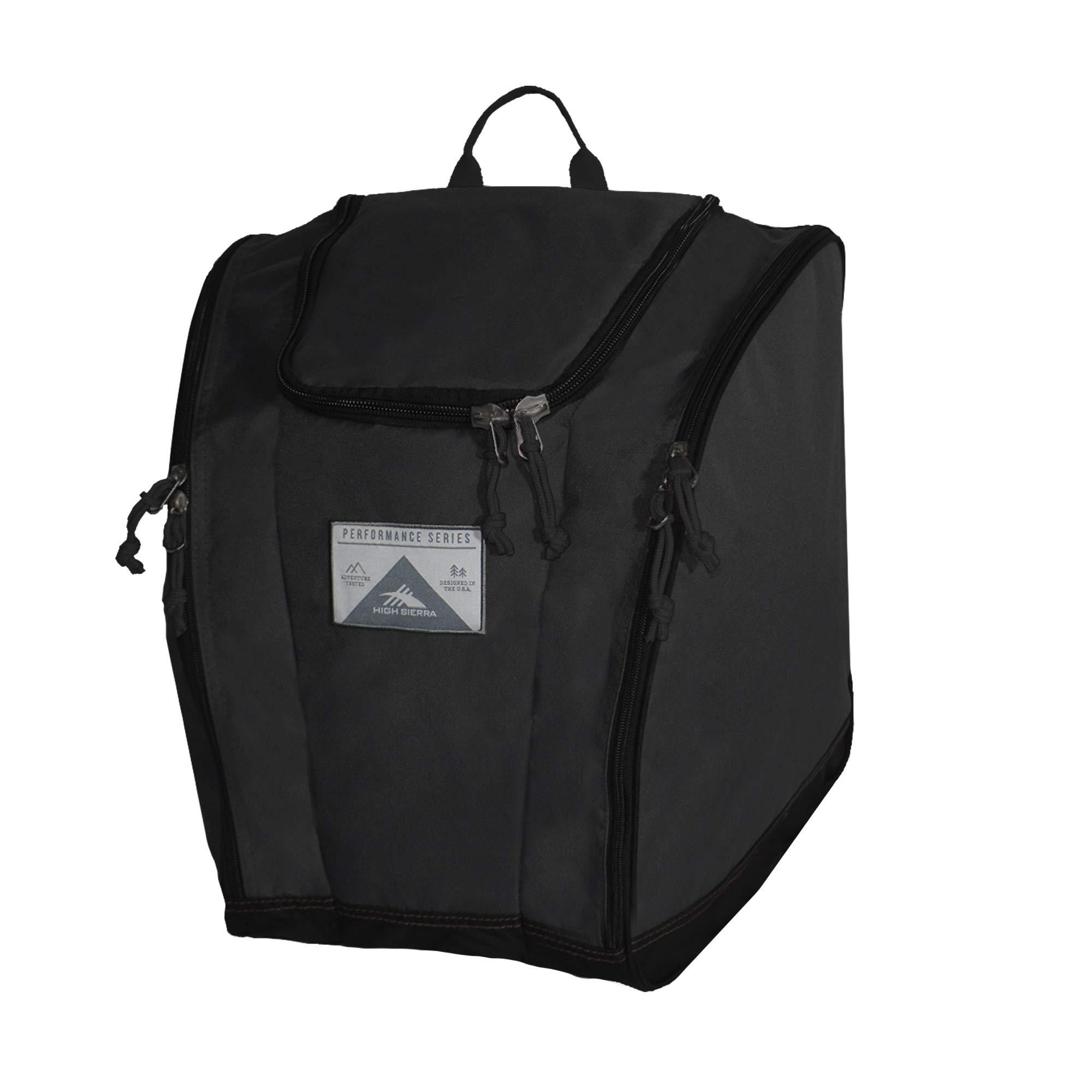 High Sierra Ski Boot Trapezoid Boot Bag, Black