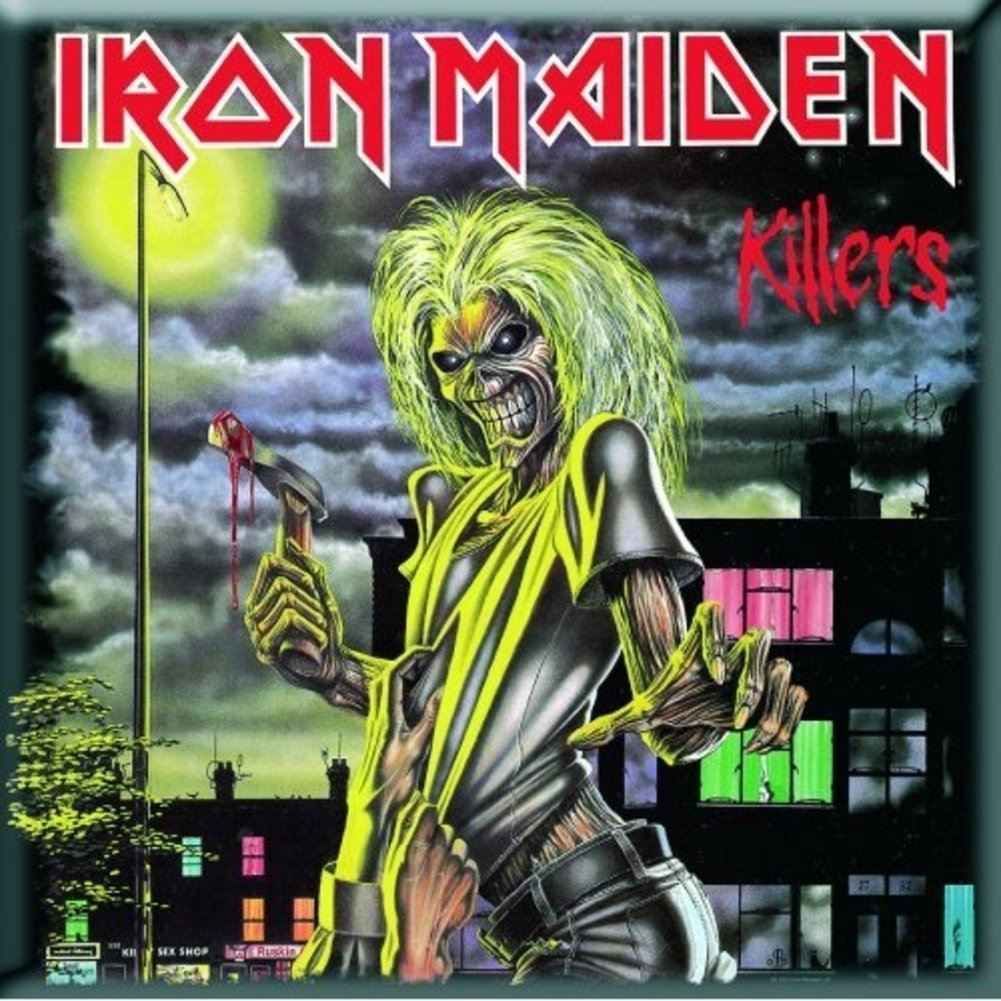 Iron Maiden Killers new Official 76mm x 76mm Fridge Magnet