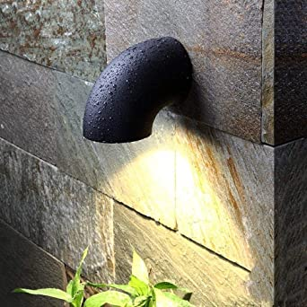 Aaedrag Iluminación LED de pared exterior Luz 7W 3000K de luces exteriores exterior impermeable IP65 luz del pórtico del jardín apliques de la pared Escalera Escaleras balcón Piscina colgar de la pare: