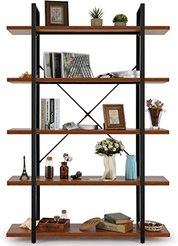 5 Tier Bookcase Bookshelf