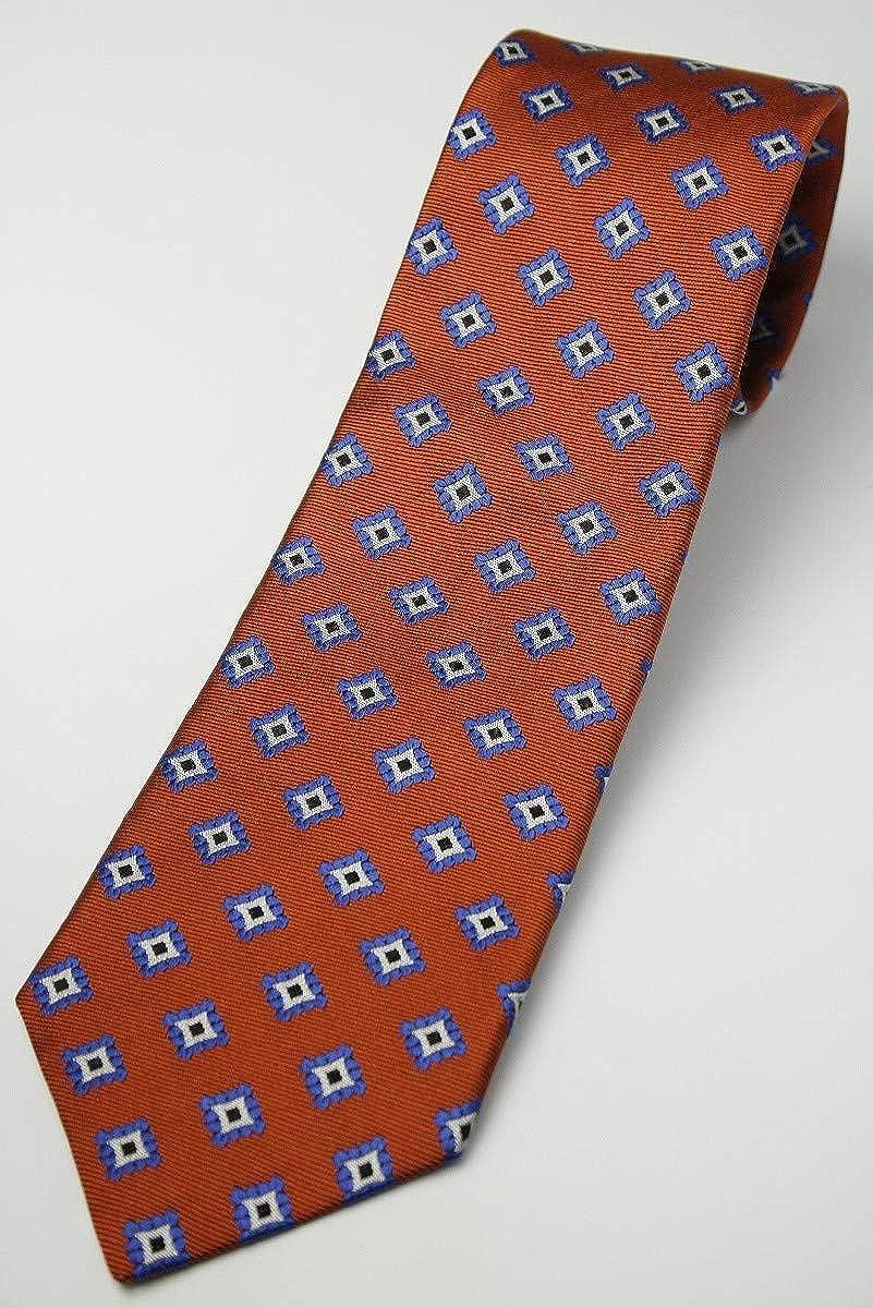 (フェアファクス) FAIRFAX ヴィンテージ調の小紋柄 ネクタイ オレンジ系 シルク100% イタリー生地使用 ジャカードタイ 日本製 jg21562   B07T4MFRL6