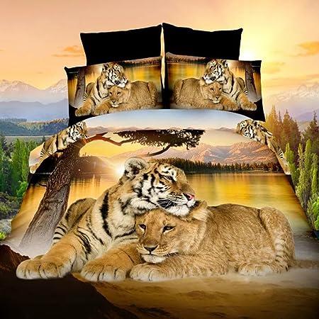 Copripiumino Matrimoniale Animali.Set Di Biancheria Da Letto Con Stampe 3d Di Animali Set
