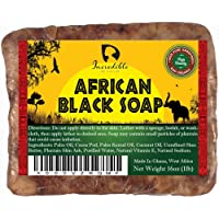 #1 Best Quality African Black Soap - Bulk 1lb Raw Organic Soap for Acne, Dry Skin, Rashes, Burns, Scar Removal, Face…
