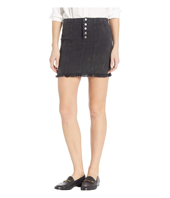 CHASER Mini Falda de Lona Vintage con Botones en la Parte ...