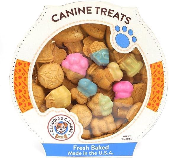 Gourmet Hard Cookie Dog Treats by Claudia s Canine – 11 Ounce Tub