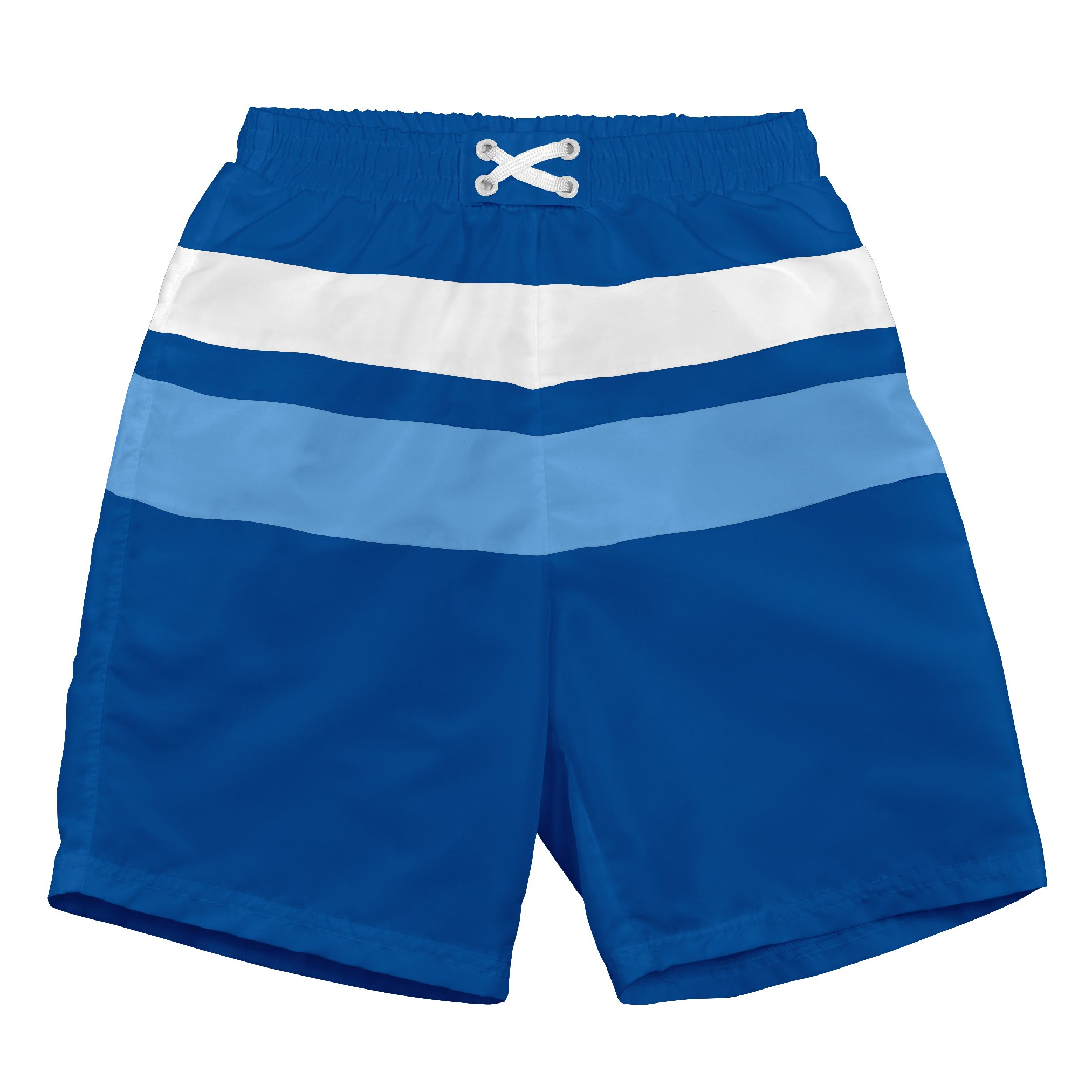 i play. Toddler Boys' Colorblock Trunks with Built-in Reusable Absorbent Swim Diaper, Royal, 3T by i play.