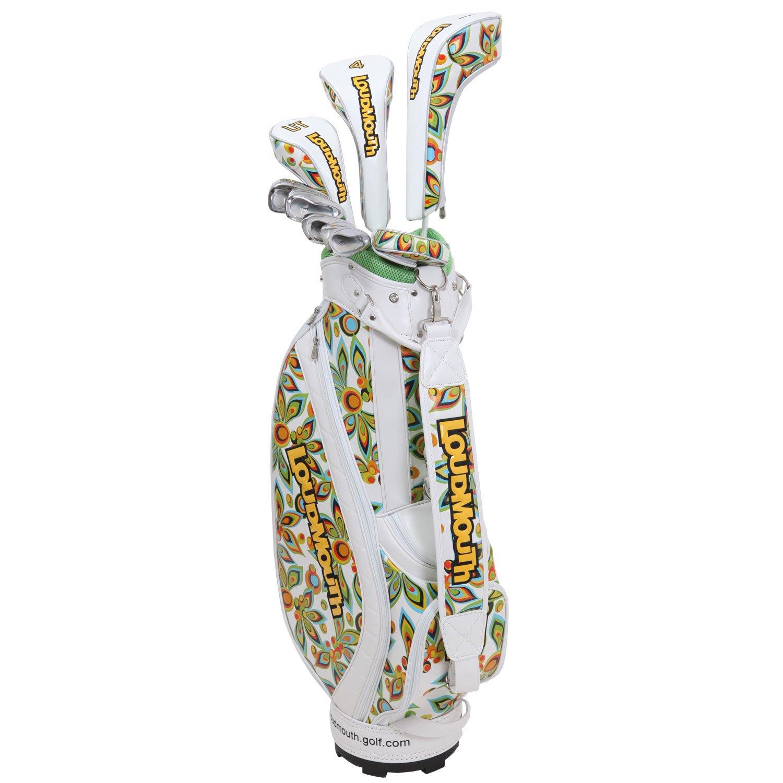 LOUDMOUTH(ラウドマウス) ゴルフクラブセット 8本組 キャディバッグ付き LM410 B00WZJKST2 シャガデリック ホワイト シャガデリック ホワイト