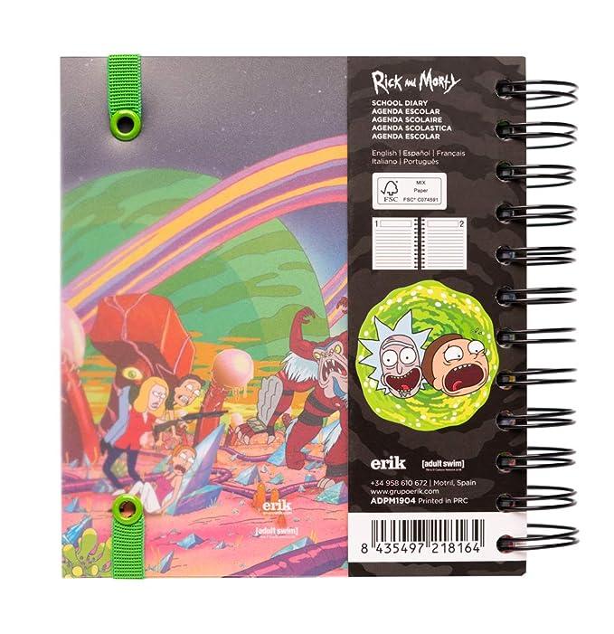 Agenda escolar 2019/2020 día página M Rick & Morty: Amazon.es ...