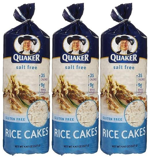Quaker Plain Unsalted Rice Cake - 4.47 oz - 3 Pack