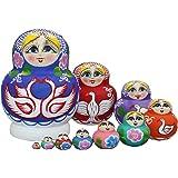 10pcs Cute and Beautiful Goose Stacking toys/Russian nesting dolls/Wooden Matryoshka dolls