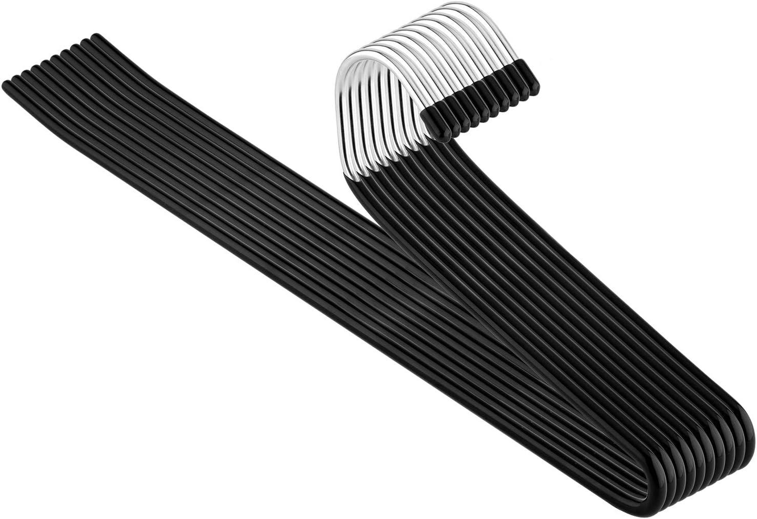 Trouser Hangers Pack of 20 Slack Pant Hangers Open-Ended Metal Easy Slide