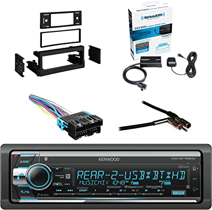 NEW KENWOOD STEREO W// XM RADIO /& BLUETOOTH /& AUX//USB INPUTS W// INSTALLATION KIT