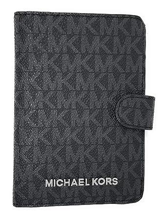 c8c806cf9e26 Michael Kors Jet Set Travel Passport Case Wallet (Black PVC 2018)